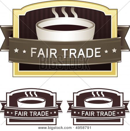 Fair Trade Coffee Label Sticker