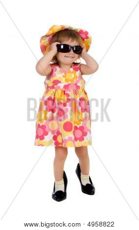 Cute Girl In Bis Shoes