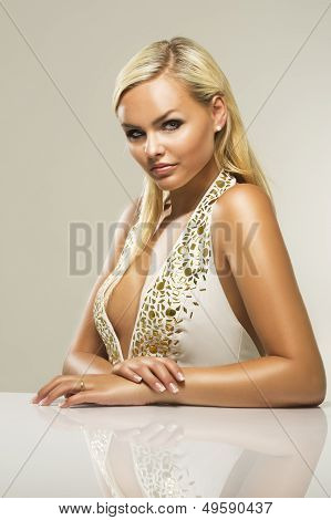 Beautiful Glamorous Blond Woman