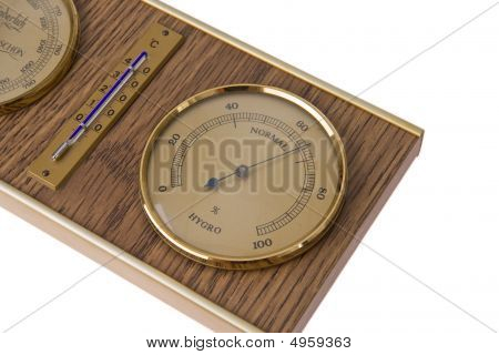 Detail Of Barometer With Thermometer