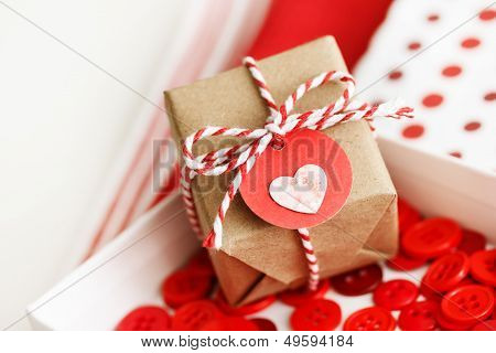 Handmade Small Gift Box With Heart