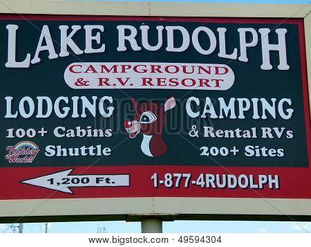 Lake Rudolph Sign