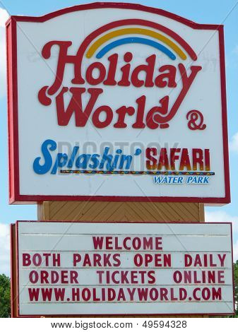 Holiday World & Splashin' Safari Sign