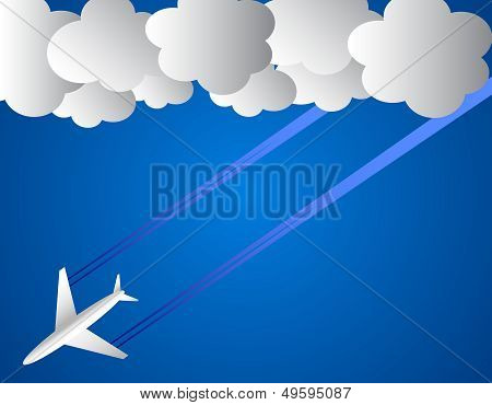 Airplane On Sky
