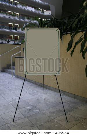 Blank Lobby Sign
