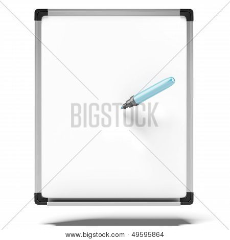 erase board with blue marker