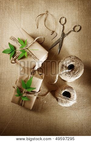 Hemp Cord Spool With Gift Boxes