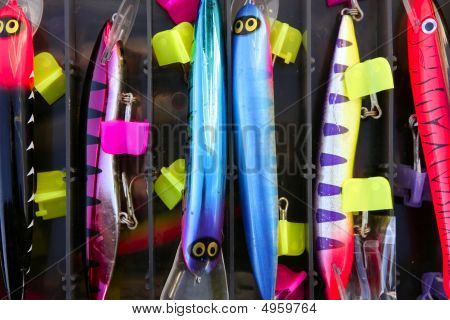 Colorful Fishing Saltwater Fish Lures Box