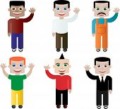 Set of different people, characters in vector