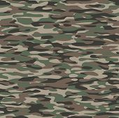 stock photo of camo  - Military camouflage textile pattern to use as a tile and to make endless surfaces or backgrounds - JPG