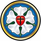 image of revelation  - Colorized illustration of the Luther seal - JPG
