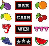 foto of pentagram  - Illustration of twelve different slot machine symbols - JPG