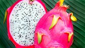 foto of dragon fruit  - Hylocereus undatus is the Pitaya blanca or White - JPG