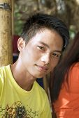 stock photo of filipino  - Closeup portrait of a healthy - JPG