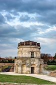 picture of porphyry  - The mausoleum of Theodoric is an ancient monument of Ravenna Italy - JPG