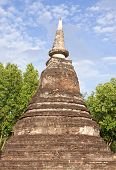 Pagodan In Sukhothai Historical Park poster