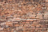 Ruinous Brick Wall In Sukhothai Historical Park poster