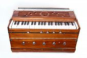 picture of music instrument  - A traditional Indian musical organ instrument called the  - JPG