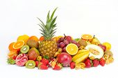 stock photo of eatables  - fresh tropical fruits - JPG