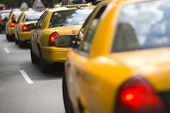 picture of cabs  - New York City cabs - JPG