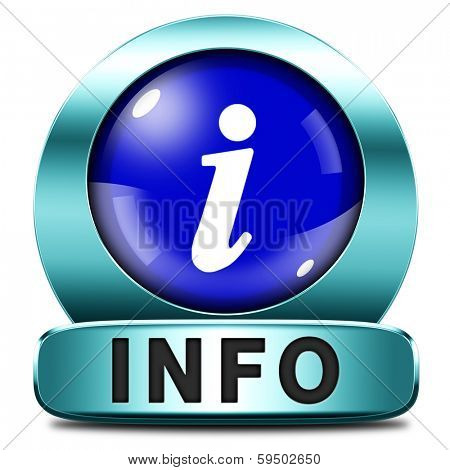info icon more information sign additional info blue metal icon read more button