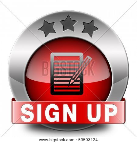 sign up or apply now red icon and subscribe here for membership. Fill in application form.