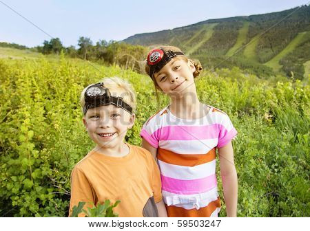 Kids Enjoying a Summer Adventure