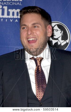 SANTA BARBARA - FEB 6:  Jonah Hill at the Santa Barbara International Film Festival Honors Scorsese & DiCaprio at Arlington Theater on February 6, 2014 in Santa Barbara, CA