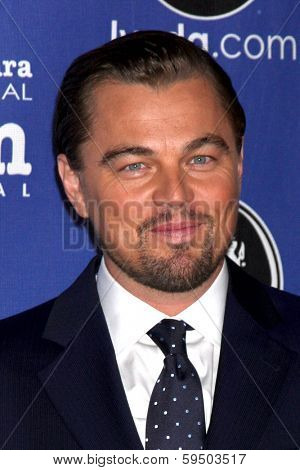 SANTA BARBARA - FEB 6:  Leonardo DiCpario at the Santa Barbara International Film Festival Honors Scorsese & DiCaprio at Arlington Theater on February 6, 2014 in Santa Barbara, CA