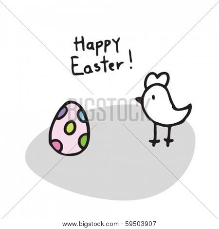 easter egg, happy easter card cute doodle design element