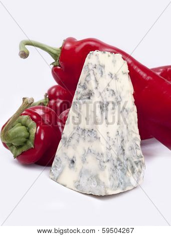 Mold Cheese And Red Pepper