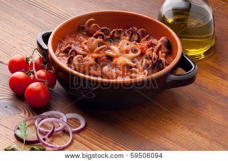 octopus in guazzetto typical italian recipe