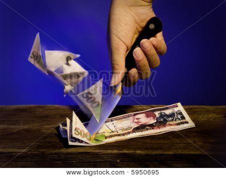 Knife Cutting  Lempiras