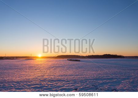 Countryside Winter Sunset