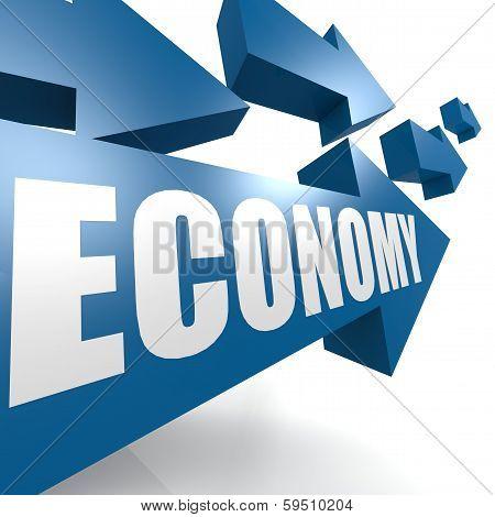 Economy Arrow Blue