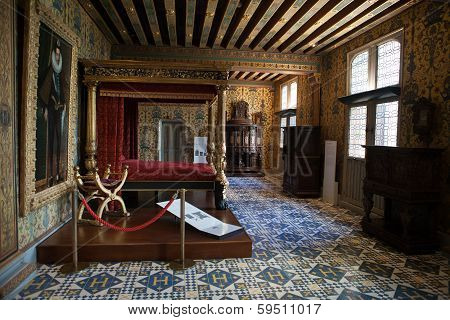 The Royal Chateau de Blois. Interior of the Francis I wing