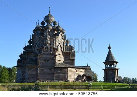 Wooden Temple On Blue Sky Background