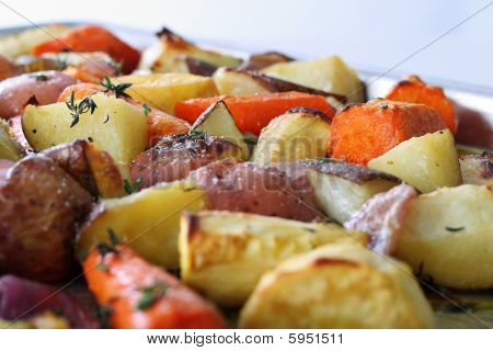 Roasted Vegetables With Truffle Oil  Thyme