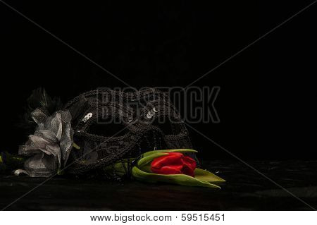 Masquerade Mask With Flower