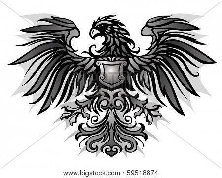 Eagle emblem on dark background