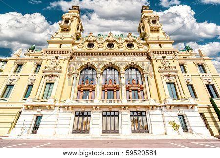 Facade Of Monte-carlo Casino And Opera House, Monaco