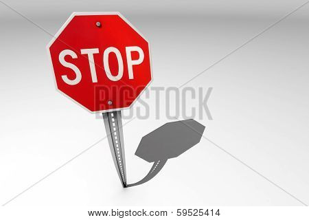 Traffic Stop Sign Over A Bright Background