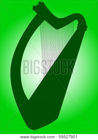 Irish Harp Silhouette