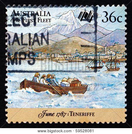 Postage Stamp Australia 1987 First Fleet At Tenerife