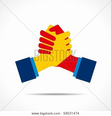 handshake or support icon vector