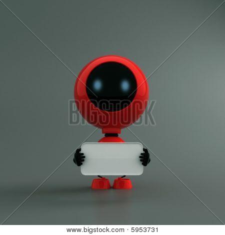 robot moderno escarlata
