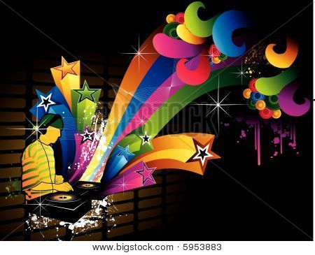 dj music vector composition