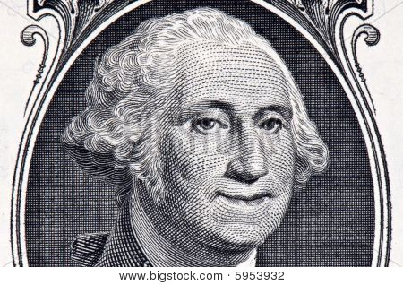 george washington dollar bill art. George Washington On A Dollar