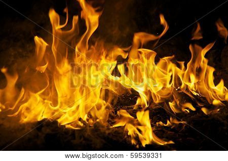 Dancing Flames At Night