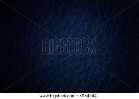Leather Texture Blue Dark
